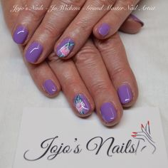 CND Shellac manicure with hand painted one stroke flowers - By Jo Wickens @ Jojo's Nails - www.jojosnails.com