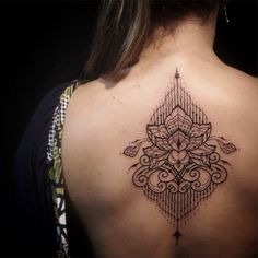 100 Breathtaking Geometric Tattoo Designs with Geometric Back Tattoos Back Tattoo Women, Back Tattoos, Tattoos For Women, Tatoos, Geometric Tattoo Design, Floral Tattoo Design, Geometric Flower, Geometric Tattoos, Arm Tattoo