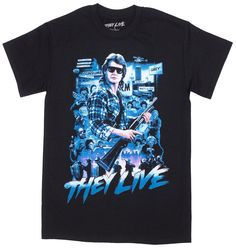 ROCK REBEL THEY LIVE COLLAGE T SHIRT $25.00 #rockrebel #theylive