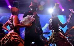 Netinho no palco do seu show em maio de 2012 no Copacabana Palace, no Rio de Janeiro/RJ.