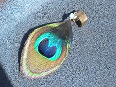 Peacock Eye Feather Ear Cuff Cruelty Free by ReuseReclaimUpcycle