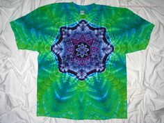 56081dcb8927 3XL Beefy T with Tie Dye Mandala Plus Size by by GratefulDan How To Tie Dye