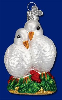 Holiday Doves,  Merck Family's Old World Christmas Glass Ornaments, www.oldworldchristmas.com, #Christmas #ornaments #glass