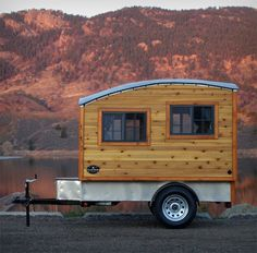 The Terrapin: Tiny Handmade Wooden Camping Trailer I am now in love with this! The simplicity is overwhelming...