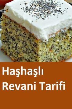 Haşhaşlı Revani Tarifi – Tatlı tarifleri – The Most Practical and Easy Recipes Turkish Mezze, Turkish Kitchen, Turkish Recipes, Dessert Recipes, Desserts, Banana Bread, Tart, Catering, Waffles
