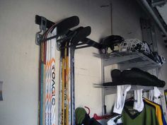 Closetmaid system to used to store hockey gear. My garage project for later this summer/fall.