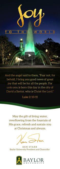 Merry Christmas, from #Baylor President Ken Starr.