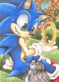 by AtlanticaSora on DeviantArt Sonic 3, Sonic Fan Art, Sonic Fan Characters, Cartoon Characters, Hedgehog Art, Sonic The Hedgehog, Sonic Franchise, Funny Iphone Wallpaper, Knight In Shining Armor