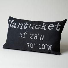 Black Nantucket Coordinate Pillow – Nantucket Looms