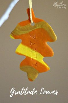 Creating and making these hand-stamped, marbled clay, autumn leaves, is an activity that kids and adults can enjoy together. Hang these from a decorative tree and you'll have a beautiful piece of Thanksgiving home decor. It's time to give thanks for all of the blessings in this life! Easy Fall Crafts, Thanksgiving Crafts For Kids, Thanksgiving Traditions, Thanksgiving Cards, Leaf Crafts, Baby Crafts, Thankful Tree, Autumn Activities For Kids, Nature Crafts