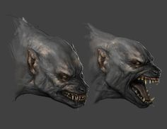 Lycan sketch . Pinning this in my Lovecraft board because it reminds me of a Lovecraftian Ghoul