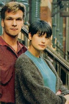 Sam Wheat and Molly Jensen (played by Patrick Swayze and Demi Moore) in 'Ghost.' I like her sweater...