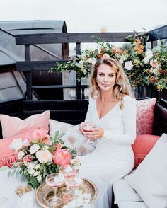 Romantic Stockholm Wedding Shoot at Hotel Kung Carl - Lounge  #wedding #coral #peaches #city #stockholm #stationary #bride #weddingflowers #beige #summerwedding