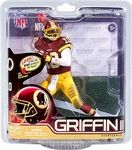 Name: RG3 Action Figure Manufacturer: McFarlane Toys Series: McFarlane Toys NFL Sports Picks Football Series 31 Action Figures Release Date: November 2012 For ages: 4 and up UPC: 787926756142 Details (Description): Robert Griffin III comes into the NFL with as much hype as any quarterback in recent memory. With the Redskins trading up to select him
