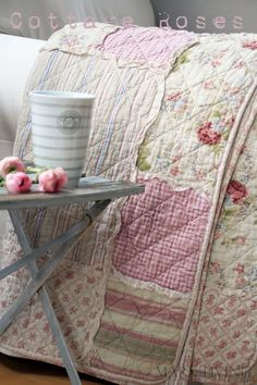 Floral quilts and ruffles --makes my heart squeal!
