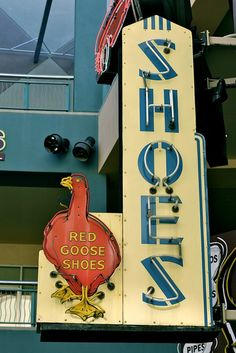 Red Goose Shoes neon sign, Las Vegas, NV.