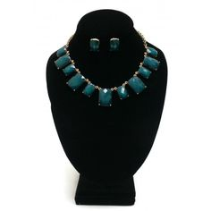 ON SALE! - Necklace & Earring Set - Dark Green - $5.00 - The Beadcage - Jewelry & Gift