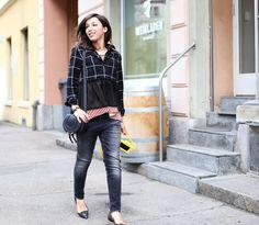 DIY plisse blouse, Cedric Charlier top, Chloe satchel and RL13 jeans via virginiepeny.com