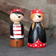 Pirate Peg Doll Duo