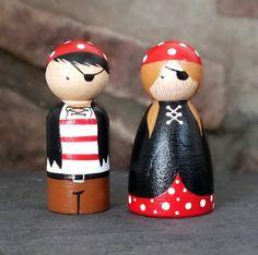 Pirate Peg Doll Duo