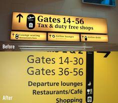 Frutiger @ Heathrow Airport Signage