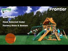 Gorilla Playsets Blue Ridge Frontier Swing Set