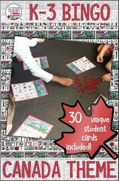 My kindergarten and primary students love playing BINGO, and it is a great way for them to learn more about Canada! 30 unique student cards featuring Canadian symbols, coins, animals, sports and landmarks! Teaching Tools, Student Learning, Fun Learning, Teaching Resources, Classroom Resources, Teaching Ideas, Social Studies Activities, Activities For Kids, Canada For Kids