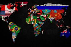 Bandeiras do mundo Wallpaper HD