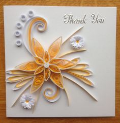 Quilling thank you card november2013
