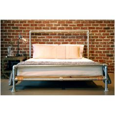 A bed made out of pipe. I may need to make this.