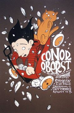conor oberst & the mystic valley band, evangelicals and i was totally destroying it - gig poster