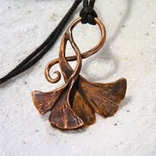 Image result for copper ginkgo jewelry