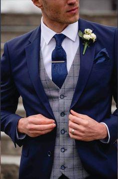 Blue Suit Wedding, Wedding Men, Menswear Wedding, Mens Wedding Suits Navy, Wedding Attire For Men, Men's Tuxedo Wedding, Vintage Wedding Suits, Summer Wedding, Wedding Ideas