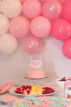 Ombre balloon wall