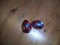 Sequin and pin eggs.