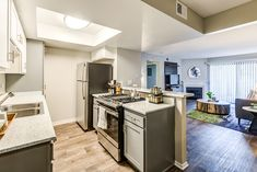 Our newly renovated apartment homes feature stainless steel appliances. New Mills, Riverside Drive, Bedroom Layouts, Cool Apartments, Stainless Steel Appliances, Ontario, Homes, Kitchen, Home Decor