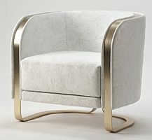 Armchair -in white velvet and brass | www.bocadolobo.com/ #luxuryfurniture #designfurniture