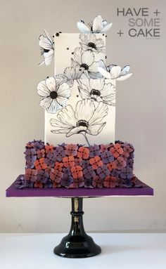 Anemone for Yasmeen by Enrique - http://cakesdecor.com/cakes/254914-anemone-for-yasmeen