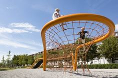 Playground loops: EYE-CATCHERS IN ANY ENVIRONMENT | Corocord by KOMPAN Inside Playground, Playground Slide, Playground Design, Backyard Playground, Outdoor Summer Activities, Outdoor Fun, Cool Playgrounds, Natural Playgrounds, Commercial Playground Equipment