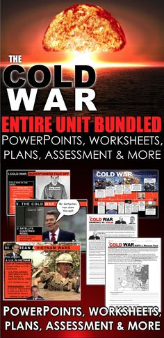 Cold War Unit Bundled is comprehensive look at the Cold War, covering from the end of World War II and spanning over 40 years to the fall of the Soviet Union. Unit includes Cold War PowerPoints w/Video Clips + Presenter Notes, warm up PowerPoints, informational text documents with questions, primary source lessons, exit tickets, crossword review, Kahoot! review game, video/video guide, and assessment. Everything is put together with detailed daily lesson plans. Just copy and paste to your…