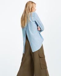 Image 6 of ASYMMETRIC DENIM SHIRT from Zara