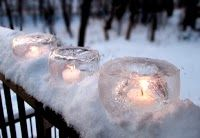 Turn your driveway into a Magical Winter Wonderland With Ice Candles