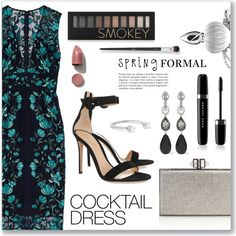 Spring formal, cocktail dress by dressedbyrose on Polyvore featuring polyvore, fashion, style, Lela Rose, Gianvito Rossi, Judith Leiber, Libertine, Oscar de la Renta, Delfina Delettrez and Forever 21