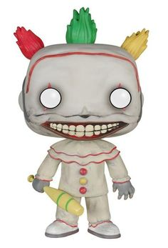 """Twisty the Clown Vinyl Figure -""""I'm a good clown."""" Remember, life is a carnival! For Twisty the clown, his deformities are equally horrific inside and out! He looks pretty good as a Pop! Viny"""