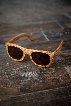 8f4f27d79c Zebra Wood Wayfarer Sunglasses  52 Wooden Sunglasses