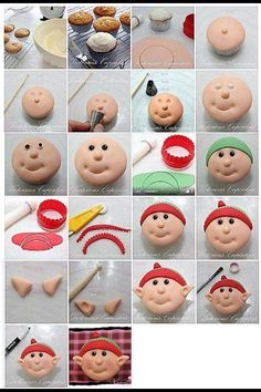 best ideas for cake christmas decoration fondant cupcake toppers Christmas Cake Decorations, Fondant Decorations, Christmas Desserts, Christmas Treats, Christmas Cakes, Christmas Eve, Fondant Cupcakes, Fondant Toppers, Decorated Cookies