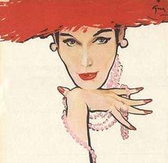 Illustration by René Gruau (1909-2004).