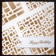 Quick card using Designs by Georgina Blocks stencil.