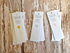 Thank you tag  gift tag  party favor tag  tulip by PrintSmitten, $12.00