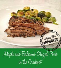 Crockpot Maple and Balsamic Glazed Pork Loin
